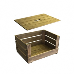 rustic stacker crate and lid
