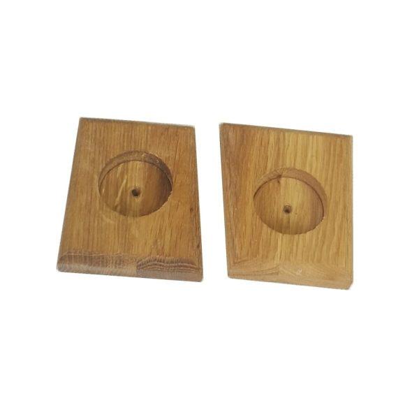 ying and yang square oak tea light holder
