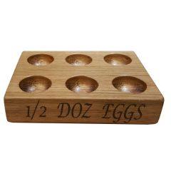 6 egg oak egg rack