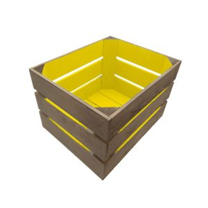 Yellow colour burst crate 300x370x250