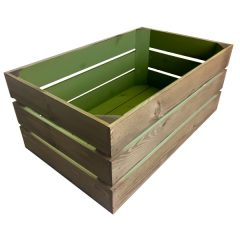 colour burst crate Tetbury green