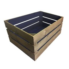 kingscote blue colour burst crate 500x370x250