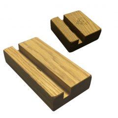 oak mobile phone and tablet holder set