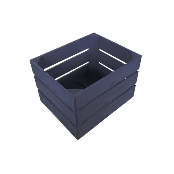 Kingscote Blue Painted Crate 300x370x250