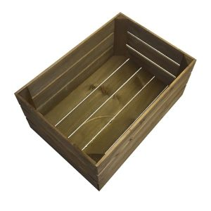 Medium brown crate plain