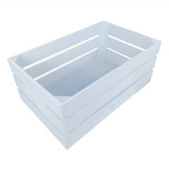 Nailsworth Blue Painted Crate 600x370x250