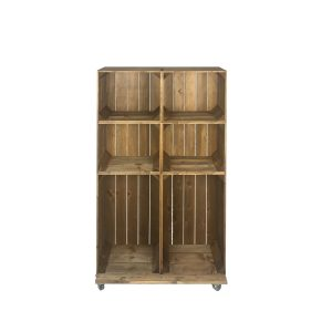 Slim 6 Mobile Brown Crate Display 745x297x1300