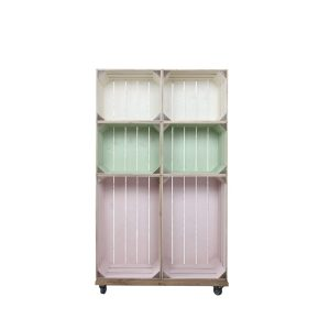 Slim 6 Mobile Colour Burst Crate Display 745x297x1300