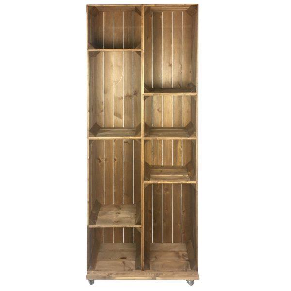 Slim 8 Mobile Brown Crate Display 745x297x1900