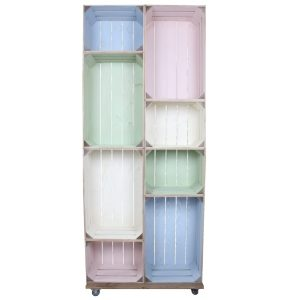 Slim 8 Mobile Colour Burst Crate Display 745x297x1900