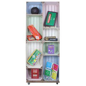 Slim 8 Mobile Colour Burst Crate Display 745x297x1900 in use