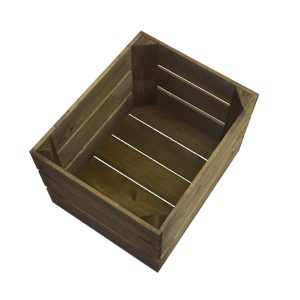 Small brown 300m rustic crate
