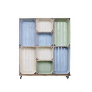 Wide 8 Mobile Colour Burst Crate Display 1115x297x1300