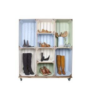 Wide 8 Mobile Colour Burst Crate Display 1115x297x1300 in use