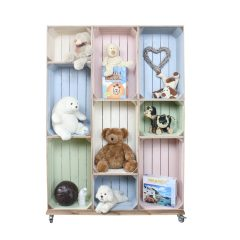Wide 9 Mobile Colour Burst Crate Display 1115x297x1600 in use