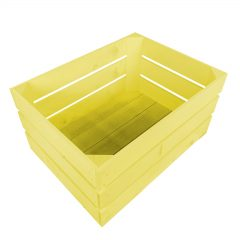 Yellow Painted Crate 500x370x250