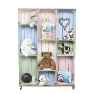 wide 9 mobile Colour Burst Crate Display childrens toys crate display