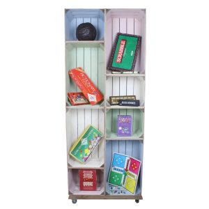 slim 8 mobile Colour Burst Crate Display games crate display