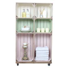 health spa crate display