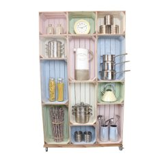 wide 12 mobile Colour Burst Crate Display kitchen display crate display