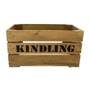 large interlocking kindling crate plain