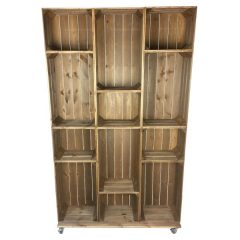 wide 12 mobile Brown Crate Display