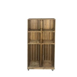 Slim 6 mobile brown crate displayan
