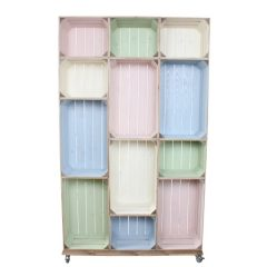 wide 12 mobile colour burst crate display