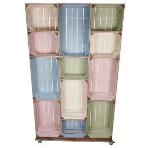 mobile colour burst crate display 12 plain