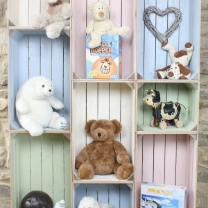 wide 9 mobile colour burst crate display childrens bedroom