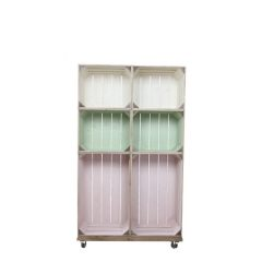 slim 6 mobile colour burst crate display