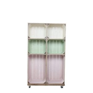 slim 6 mobile colour burst crate display