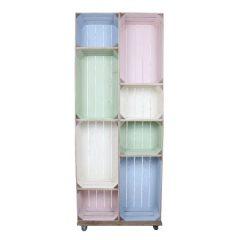 slim 8 mobile colour burst crate display