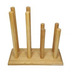 Oak Welly Rack 4 Pair (2 tall 2 short)