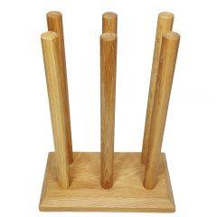 Oak Welly Rack 3 Pair (3 tall)