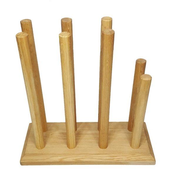 Oak Welly Rack 4 Pair (3 tall 1 short)