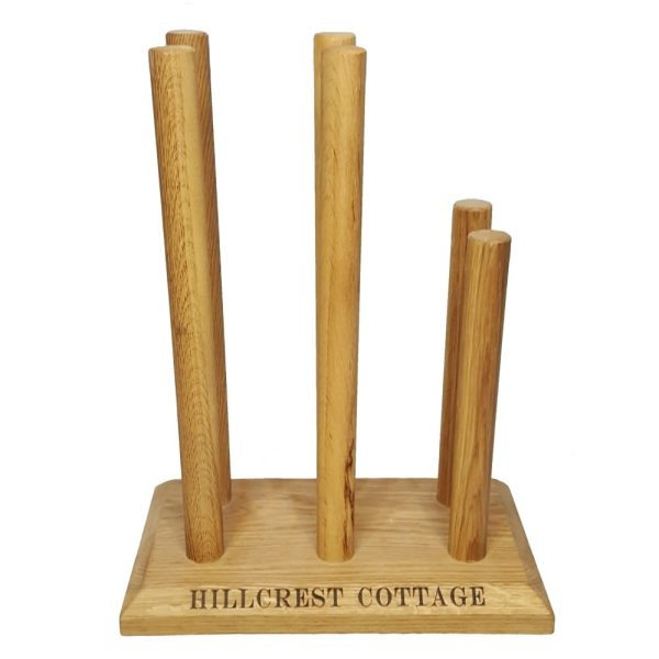 Oak Welly Rack 3 Pair (2 tall 1 short) Hillcrest
