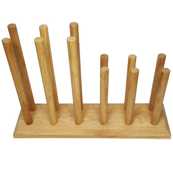 Oak Welly Rack 6 Pair (3 tall 3 short)