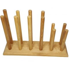 Oak Welly Rack 6 Pair (4 tall 2 short)