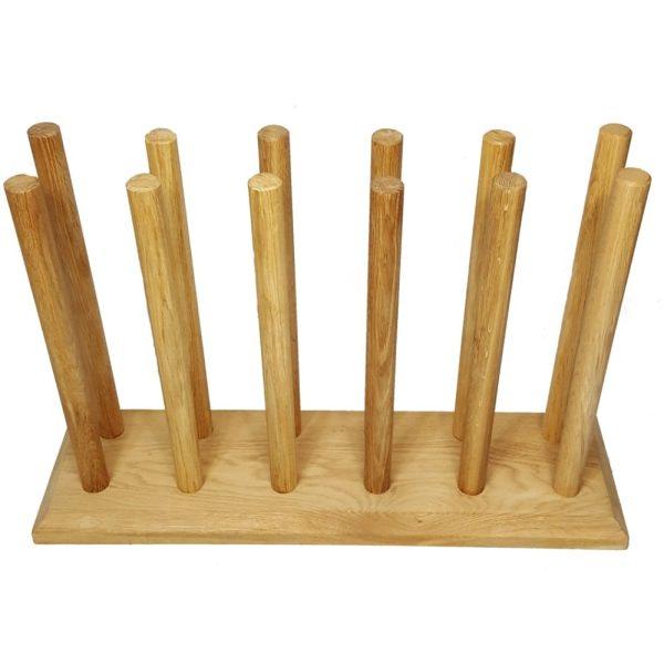 Oak Welly Rack 6 Pair (6 tall)