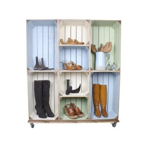 shoe and boot crate display