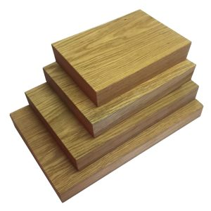 squared edge chopping board set without handles