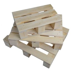 Stained mini pallet angled stacked plain