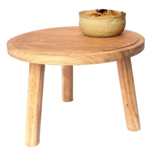 lacquered Oak Milking Stool 290Dx210