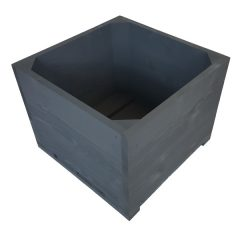 Amberley Grey Painted large square planter plain