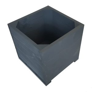Amberley Grey Painted small square planter plain