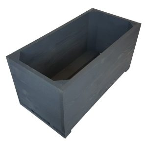 Amberley Grey Painted square trough planter plain
