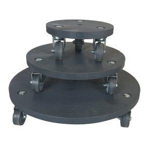 Amberley Grey painted round pot stand set plain