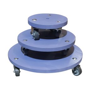 Kingscote Blue painted round pot stand set plain