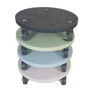 Medium painted round pot stand stacked plain